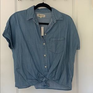 Madewell Cropped Jean Button Down